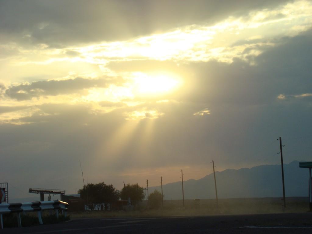 Закат в Казахстане