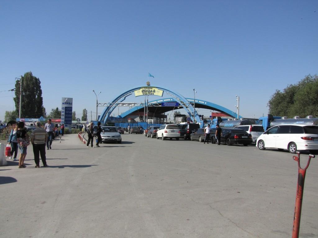 на Киргизско-Казахской границе