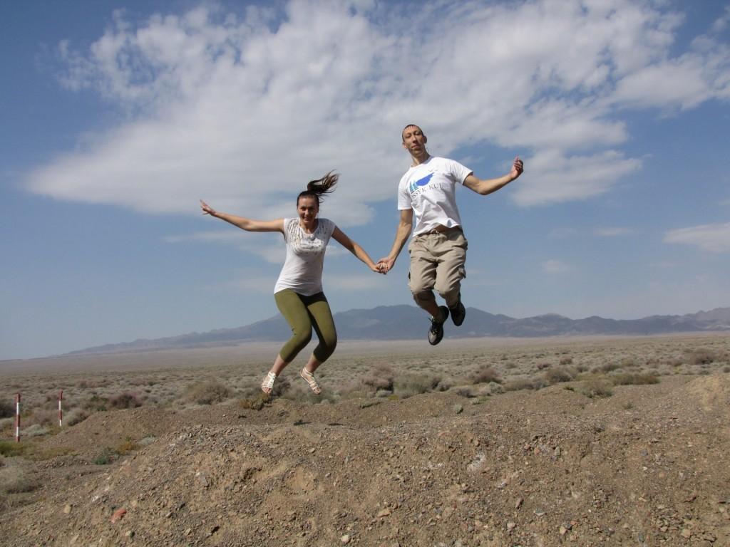 Прыжок в Алтын-Эмеле (национальный парк)